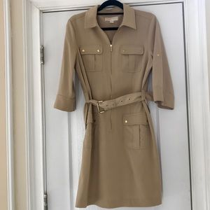 Michael Kors belted shirt dress, Size L